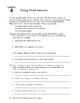 Descriptive Writing: Developing an Outline