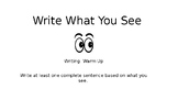 Descriptive Writing Exercise: Write What You See