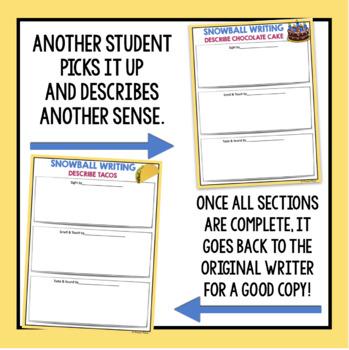 DESCRIPTIVE WRITING ACTIVITY: SNOWBALL WRITING