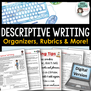 Descriptive Writing -  GOOGLE DRIVE - Organizers, Examples