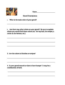 Descriptive Writing - Gourds