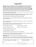 Descriptive Writing- Hershey's Kiss