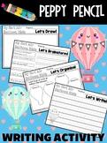 Descriptive Writing - Hot Air Balloon Ride - A Peppy Pencil Writing Activity