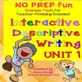 Descriptive Writing for Interactive Notebooks Set 1