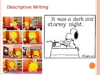 Descriptive Writing Intro and Analysis