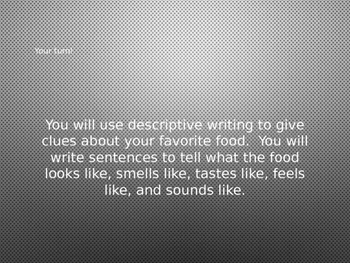 Descriptive Writing Lesson