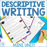 Descriptive Writing Lesson Pack! Prompts, Rubrics, Sensory