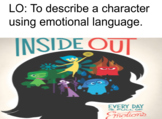 Descriptive Writing Lesson Using Inside Out