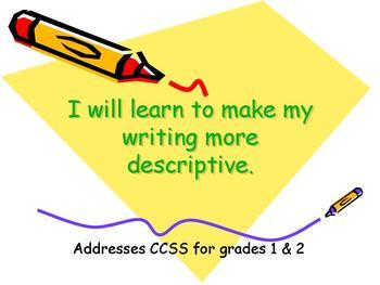 Descriptive Writing Lesson- Using adjectives