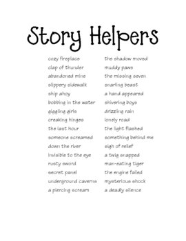 Descriptive Writing Lesson and Journal List