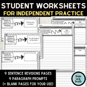 Descriptive Writing Powerpoint and Instructional Resources--Grades 3-5