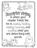 Descriptive Writing Made Fun in First, Second, or Third Grade!
