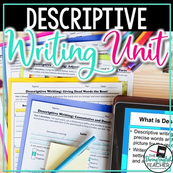 Descriptive Writing Mini-Unit: Writing with Strong Verbs, Adjective, and Adverbs