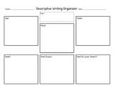 Descriptive Writing Organizer - 5 Senses