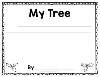 Descriptive Writing  Christmas Ornaments and Trees