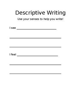 Descriptive Writing Outline