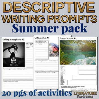 End of Year Descriptive Writing tasks for Summer