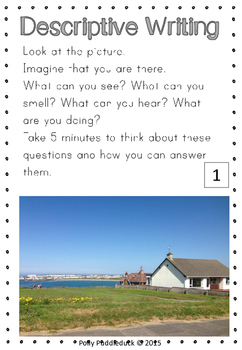 Descriptive Writing Real Life Picture Prompts and Questions