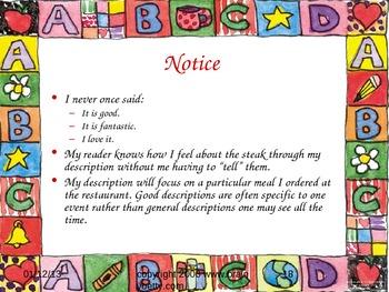 Descriptive Writing Plan