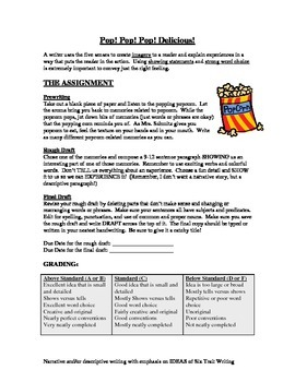 Descriptive Writing Popcorn
