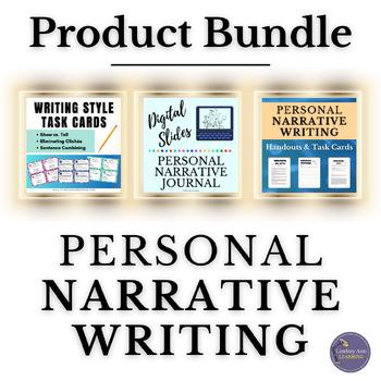 Personal Narrative Writing Strategy Handouts & Task Cards Mini Bundle