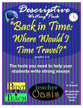 """Descriptive Writing Prompt """"Back in Time: Where Would I Time Travel?"""""""