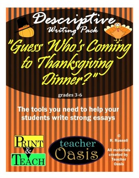 """Descriptive Writing Prompt """"Guess Who's Coming to Thanksgiving Dinner?"""""""