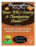 """Descriptive Writing Prompt """"Guess Who's Coming to Thanksgi"""