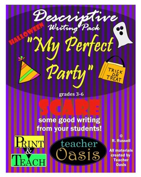 """Descriptive Writing Prompt """"My Perfect Party"""""""