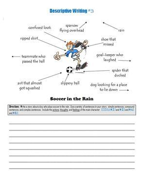 Descriptive Writing:  Prompts to help students tell a story