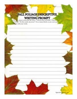 Descriptive Writing Prompt/sensory details/Autumn