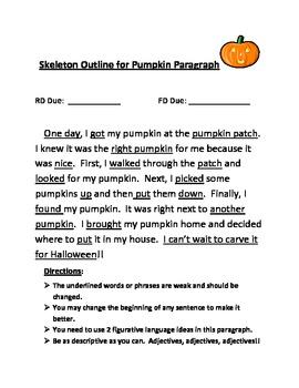 Descriptive Writing - Pumpkin Paragraph
