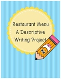 Descriptive Writing: Restaurant Menu