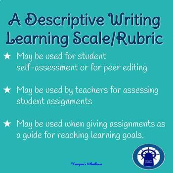 Descriptive Writing Rubric/Learning Scale