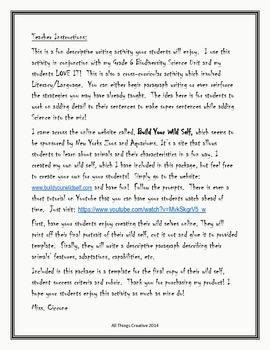 Descriptive Writing & Science Activity