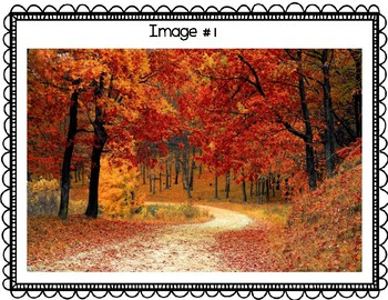 Descriptive Writing Seasons Activity