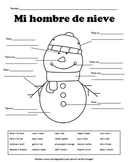 Descriptive Writing - Snowman (SPANISH)