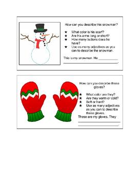 Descriptive Writing Starters: Winter Theme