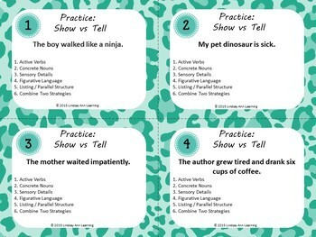 Writing Fluency Task Cards for Middle School and High School