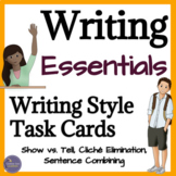 Sentence Writing Task Cards for Personal Narrative and Cre