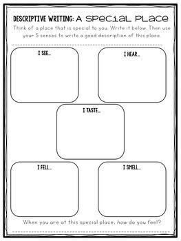 Descriptive Writing Task Cards