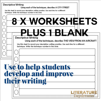 Descriptive Writing Technique Task Cards Posters And Worksheets