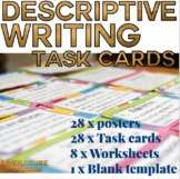Descriptive Writing Technique Task cards, Posters and Worksheets