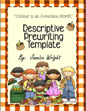 Descriptive Writing Template October is an Awesome Month