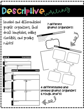 Descriptive Writing Templates