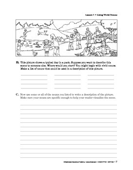 Descriptive Writing: To the Student
