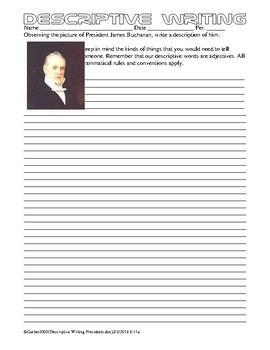 Descriptive Writing US Presidents History