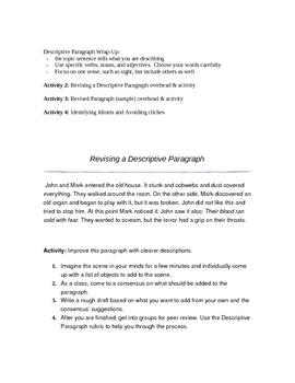 Descriptive Writing Unit