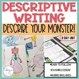 Descriptive Writing Unit: Monster Writing  (3rd-6th grade) *A Best Seller*