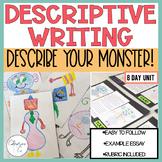 Descriptive Writing Unit | Monster Writing